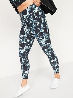 High-Waisted PowerSoft 7/8-Length Side-Pocket Leggings For Women
