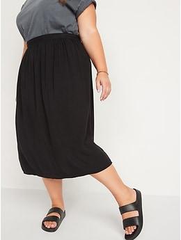 High-Waisted Midi Swing Skirt for Women