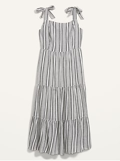 Fit & Flare Sleeveless Striped Maxi Dress for Women