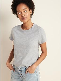 T-shirt ras du cou tout-aller pour femme