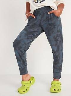 UltraLite Fold-Over-Waist Jogger Sweatpants for Girls
