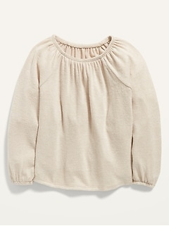 Cozy Long-Sleeve Top for Toddler Girls
