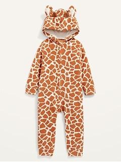 Unisex Giraffe-Print Costume One-Piece for Baby