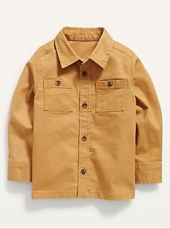 Chemise de travail à poche en sergé à manches longues pour Tout-petit garçon