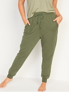Extra High-Waisted Quilted Jogger Sweatpants for Women