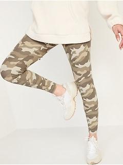 High-Waisted Printed Ankle Leggings For Women