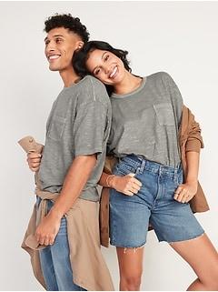 Vintage Garment-Dyed Pocket Gender-Neutral T-Shirt for Adults