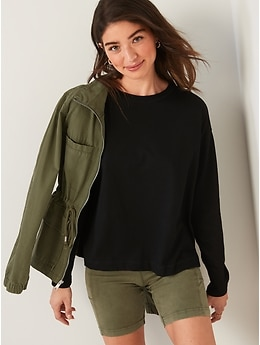 Long-Sleeve Vintage Loose T-Shirt for Women
