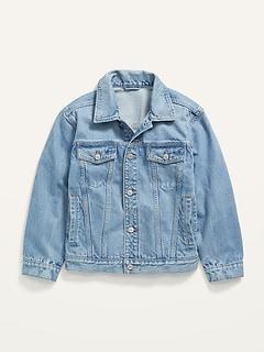 Gender-Neutral Oversized Jean Trucker Jacket for Kids