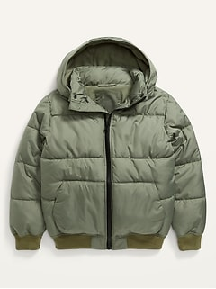 Water-Resistant Frost-Free Puffer Jacket for Boys