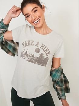 EveryWear Slub-Knit Graphic T-Shirt for Women