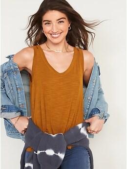 Camisole en tricot flammé luxueux à encolure enV pour Femme