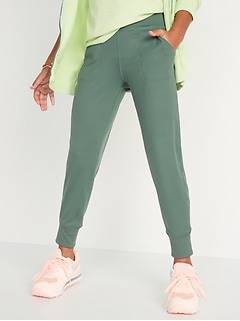 High-Waisted Rib-Knit Pocket Joggers for Girls