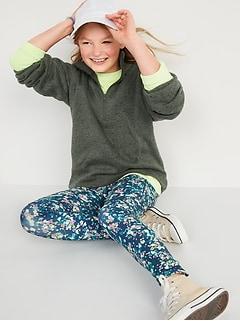 Mock-Neck Sweater-Fleece 1/2-Zip Pullover for Girls