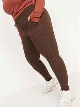Legging de jogging de compression CozeCore chiné à taille haute pour Femme