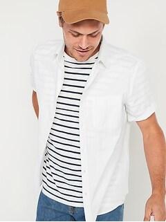 Chemise oxford de tous les jours à manches courtes avec Built-In Flex pour homme