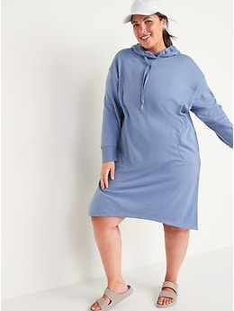 Loose Extra-Long French Terry Hoodie for Women