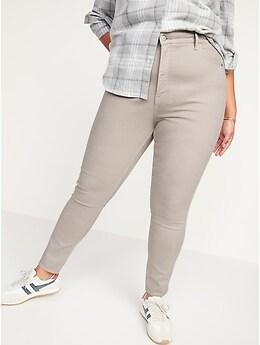 Extra High-Waisted Rockstar 360° Stretch Pop-Color Super Skinny Jeans for Women