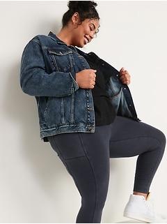 High-Waisted Garment-Dyed Side-Pocket 7/8-Length Leggings For Women