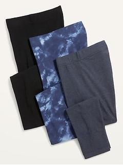 High-Waisted Cropped Leggings 3-Pack For Women
