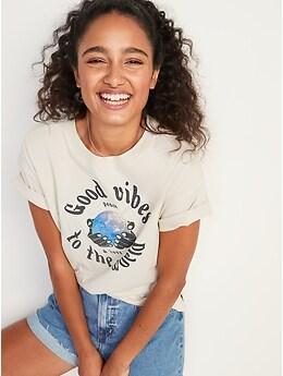 T-shirt confort ample à imprimé pour Femme