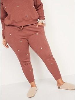 Vintage Mid-Rise Embroidered Jogger Sweatpants for Women