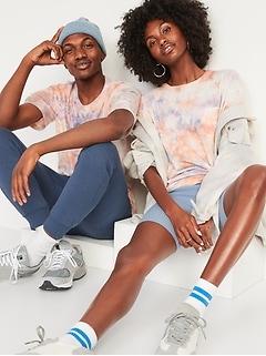 Vintage Tie-Dye Pocket Gender-Neutral T-Shirt for Adults