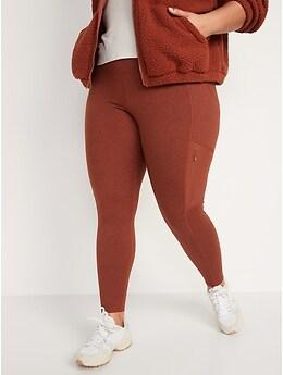 High-Waisted CozeCore Hybrid Zip-Pocket Leggings for Women