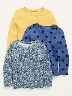 Unisex 3-Pack Long-Sleeve Thermal T-Shirt for Toddler