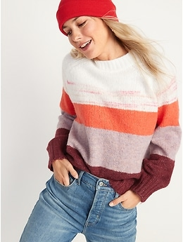 Slouchy Crew-Neck Sweater for Women