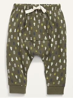 Cozy U-Shaped Thermal-Knit Pants for Baby