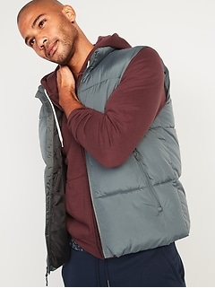 Frost-Free Water-Resistant Puffer Vest for Men