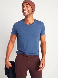 Soft-Washed Printed V-Neck T-Shirt for Men