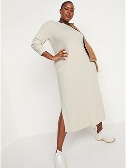 Rib-Knit Maxi Shift Dress