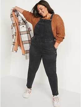 O.G. Workwear Black-Wash Jean Overalls for Women