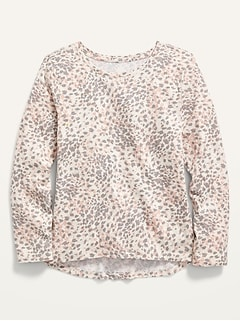 Softest Printed Long-Sleeve T-Shirt for Girls