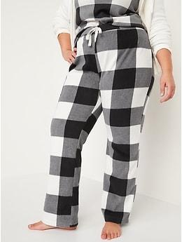 Matching Printed Microfleece Pajama Pants for Women