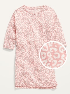 Printed 3/4-Length Sleeve Jersey Nightgown for Girls