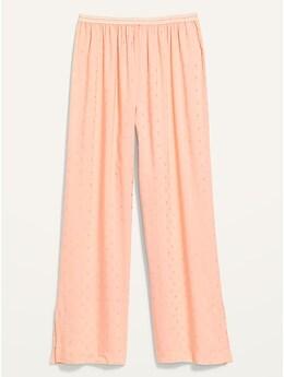 Pantalon de pyjama à jambe large et à taille élastique pour Femme