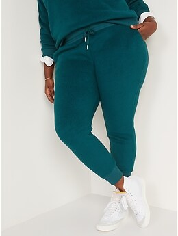 Mid-Rise Vintage Sherpa Sweatpants for Women