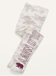 Logo-Graphic Built-In Tough Leggings for Girls
