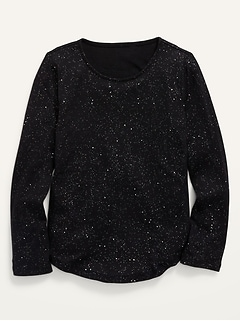 Long-Sleeve Speckled Thermal T-Shirt for Girls