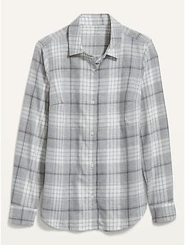 Classic Plaid Flannel Shirt for Women