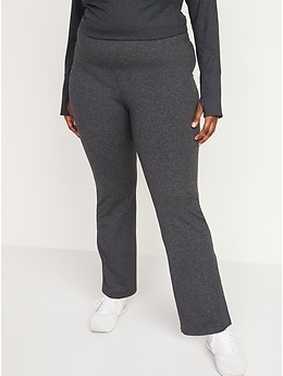 High-Waisted CozeCore Boot-Cut Pants for Women
