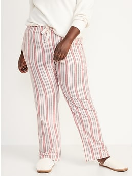 Matching Printed Flannel Pajama Pants for Women