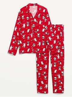 Matching Holiday Flannel Pajamas Set for Men