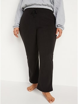 Mid-Rise Fleece Pajama Pants for Women