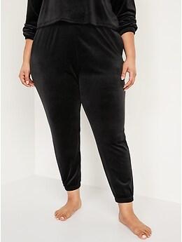 High-Waisted Luxe Velvet Jogger Sweatpants for Women