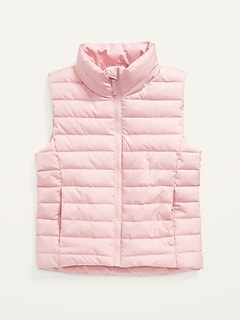 Frost-Free Narrow-Channel Puffer Vest for Girls